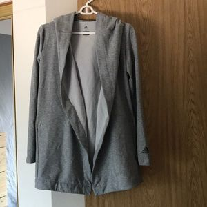 Adidas Woman's XS Grey Climalite Open Sweatshirt